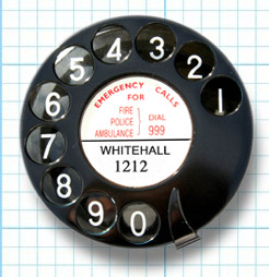 Photograph of telephone dial